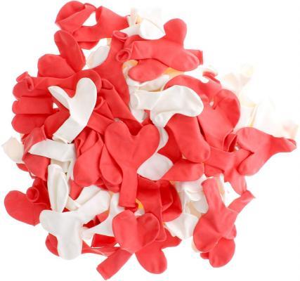 Купить Набор шаров Action! Сердечки 100 шт API0046/M, Атрибуты для праздника