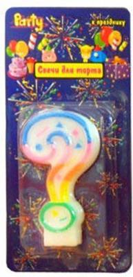 Свеча Action! нумерологическая ЗНАК ВОПРОСА 7 см 1 шт API0316-10 свеча action нумерологическая 8 1 шт 7 см api0316 8