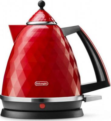 цена на Чайник DeLonghi KBJ 2001 R 2000 Вт красный 1.7 л пластик