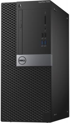 Системный блок Dell OptiPlex 7040 i5-6500 3.2GHz 4Gb 500Gb HD530 DVD-RW Win7Pro клавиатура мышь черный 7040-8797