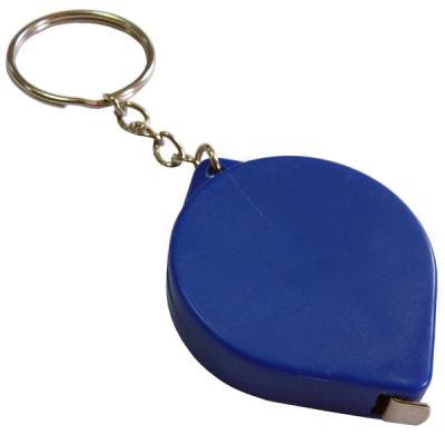 Брелок-рулетка, пластик, синий Lbr10475/С