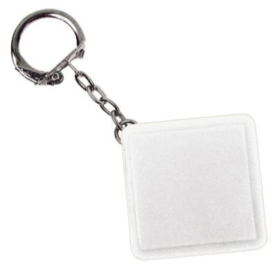 Брелок-рулетка квадратный, пластик, белый Lbr10478/Б брелок рулетка квадратный пластик зеленый