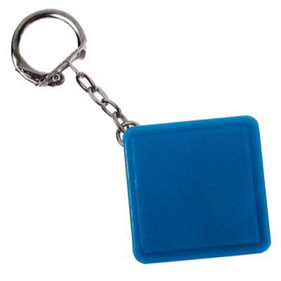 Брелок-рулетка квадратный, пластик, синий Lbr10478/С рулетка пластик синий lrk10489 с