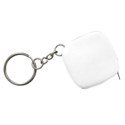 Брелок-рулетка, 2.5*2.5 см, пластик, белый, рулетка-50 см Lbr10472/WH/MINI рулетка брелок biber 40131
