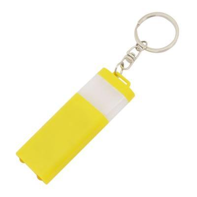 Брелок-фонарик двусторонний, желтый корпус, индивид. стикер Lbf1303/YL usb перезаряжаемый высокой яркости ударопрочный фонарик дальнего света конвой sos факел мощный самозащита 18650 батареи