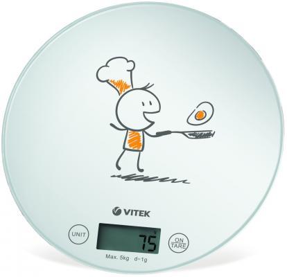 Весы кухонные Vitek VT-8018 W белый весы кухонные vitek 8002 w рисунок