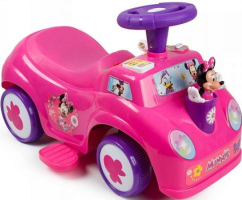 Каталка-пушкар Kiddieland Минни 2 в 1 розовый от 1 года пластик 0661148537102 каталка на палочке s s toys вертолет желтый от 1 года пластик