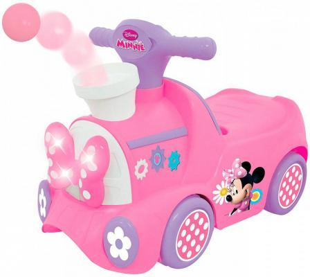 "Каталка-пушкар Kiddieland ""Паровозик Минни"" с шарами розовый от 1 года пластик 661148509482"