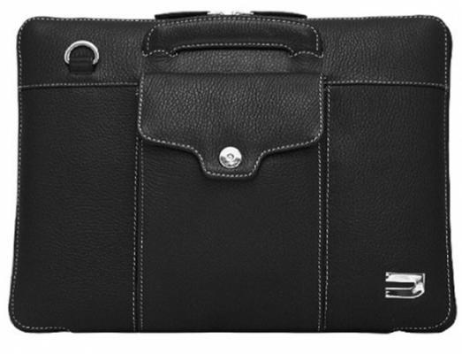 Чехол-портфель Urbano для MacBook Air 11 кожаный, цвет: черный.