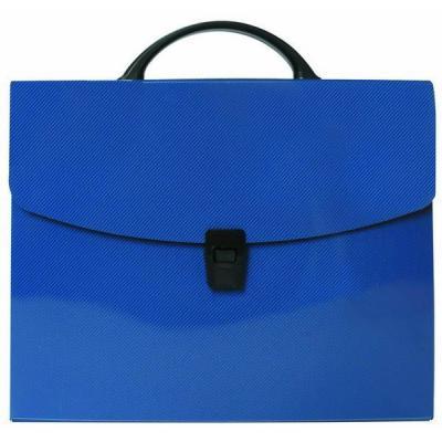 Папка-портфель без отделений, А4, синяя IEF15/BU