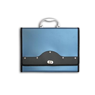 Папка-портфель METALLIC с металлическим замком, 13 отделений, А4, синяя IEF01/BL