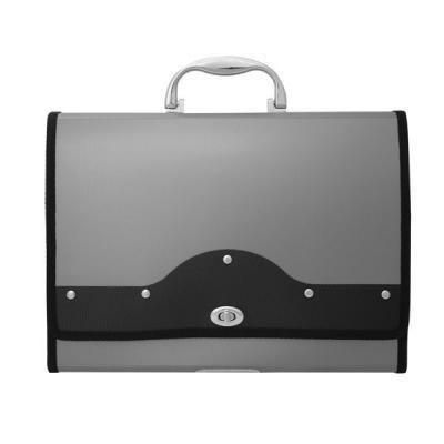 Папка-портфель METALLIC с металлическим замком, 13 отделений, А4, серебряная IEF01/SL