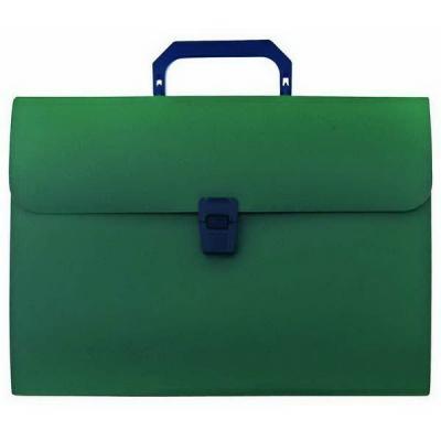 Папка-портфель, 13 отделений, А4, зеленая IEF08/GN