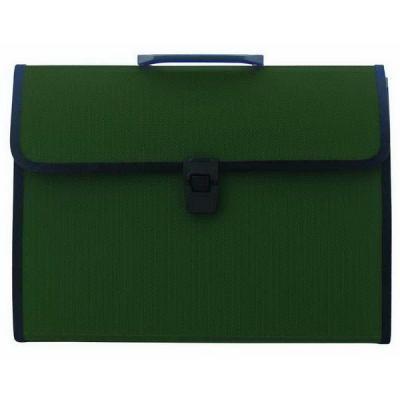 Папка-портфель, 13 отделений, А4, зеленая IEF13/GN