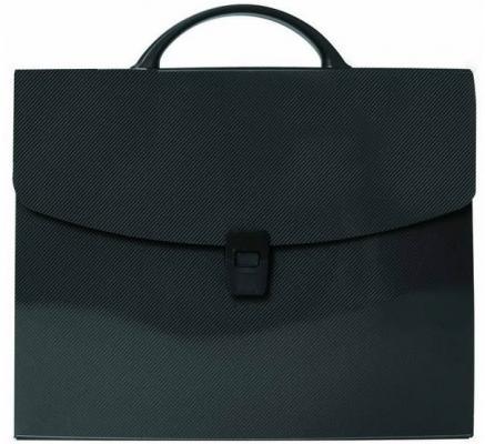 Папка-портфель без отделений, А4, черная IEF15/BL