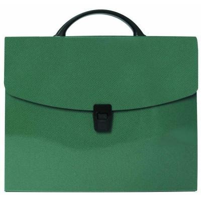 Папка-портфель без отделений, А4, зеленая IEF15/GN