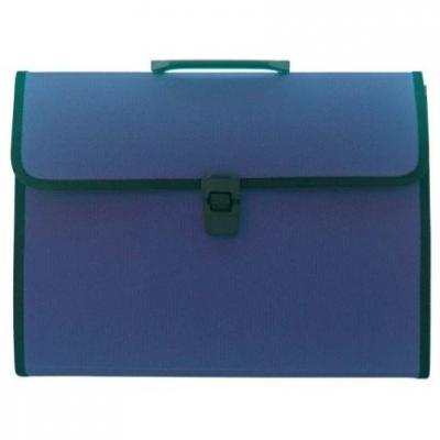 Папка-портфель, 13 отделений, А4, синяя IEF13/BU портфель office point exclusive пластиковый картотека на 12 отделений