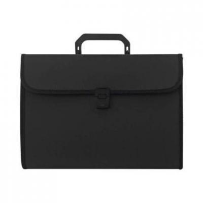 Папка - портфель с ручкой на 13 отделений, черный SEF811/BK