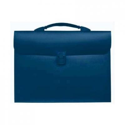 Папка - портфель с эргономичной ручкой на 13 отделений, синий SEF810/BU