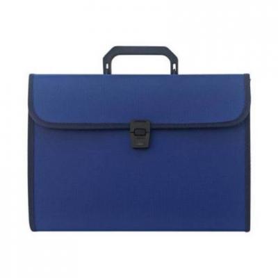 Папка - портфель с ручкой на 13 отделений, синий SEF811/BU