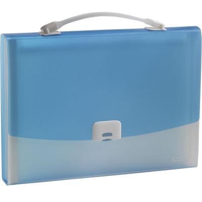 Папка-портфель FOCUS А4, 13 отделений, PP, 0,7 мм, голубой 0410-0021-03