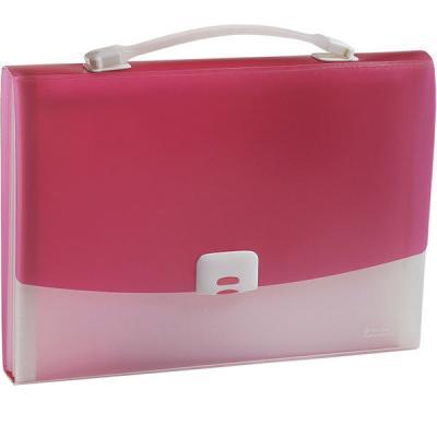 Папка-портфель FOCUS А4, 13 отделений, PP, 0,7 мм, розовый 0410-0021-13