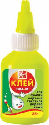 Клей ПВА-М, 25 гр, в цветном флаконе 20С1350-08
