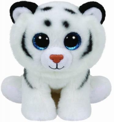 Мягкая игрушка тигр TY Тигренок белый Tundra плюш белый 25 см 90219