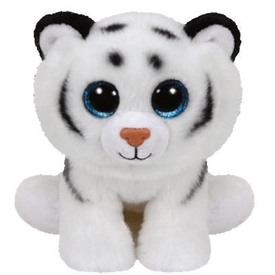 Мягкая игрушка тигр TY Тигренок белый Tundra искусственный мех плюш белый 20 см 0008421421060