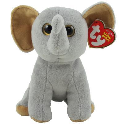 Мягкая игрушка слоник TY Слоненок Sahara плюш искусственный мех серый 15 см 0008421420711