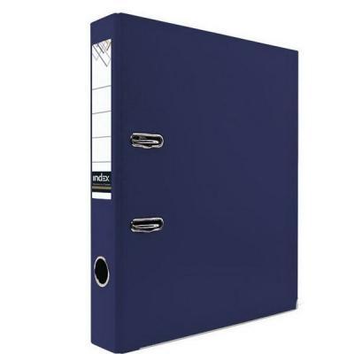 Папка-регистратор с покрытием PVC и металлической окантовкой, 50 мм, А4, темно-синяя IND 5/30 PVC NEW ТС папка регистратор 80 мм эконом без покрытия