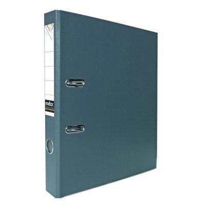 Папка-регистратор с покрытием PVC, 80 мм, А4, серая IND 8/24 PVC СЕР папка регистратор с покрытием pvc 80 мм а4 черная ind 8 24 pvc чер