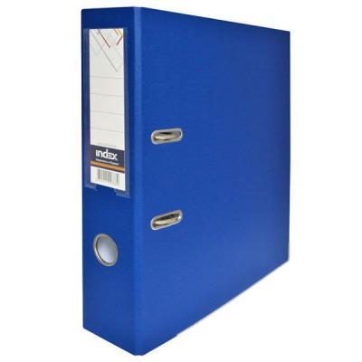 Папка-регистратор с покрытием PVC, 80 мм, А4, синяя IND 8/50 PP BU