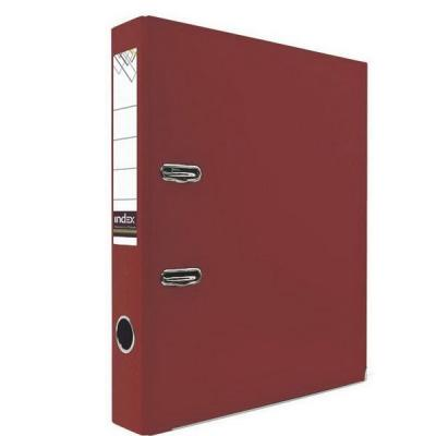 Папка-регистратор с покрытием PVC и металлической окантовкой, 50 мм, А4, красная IND 5/30 NEW КР