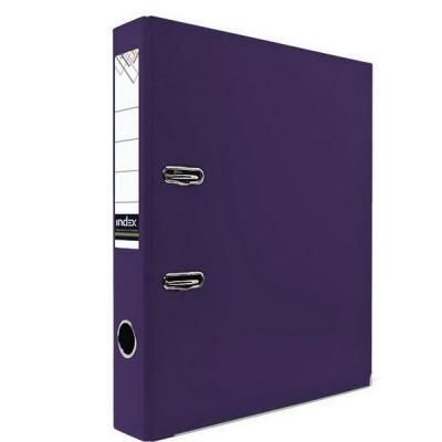 Фото - Папка-регистратор с покрытием PVC и металлической окантовкой, 50 мм, А4, фиолетовая IND 5/30 PVC NEW Ф папка меню ф а4 pvc ассорти