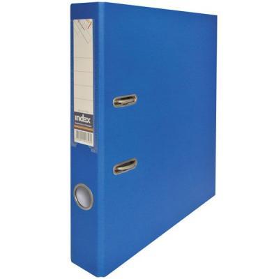 Папка-регистратор с покрытием PVC, 50 мм, А4, синяя IND 5/50 PP BU папка proff а4 60 карманов синяя