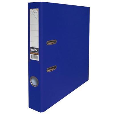 Папка-регистратор с покрытием PVC, 50 мм, А4, темно-синяя IND 5/50 PP DB папка proff а4 60 карманов синяя