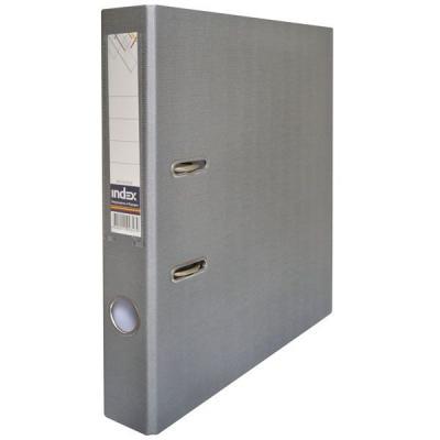 Папка-регистратор с покрытием PVC и металлической окантовкой, 50 мм, А4, серая IND 5/50 PP NEW GY папка регистратор 80 мм эконом без покрытия