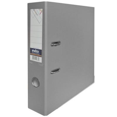 Папка-регистратор с покрытием PVC, 80 мм, А4, серая IND 8/50 PP GY