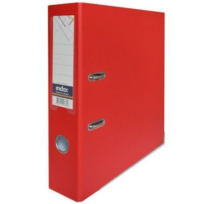 Фото - Папка-регистратор с покрытием PVC, 80 мм, А4, красная IND 8/50 PP RD папка регистратор с покрытием pvc 80 мм а4 оранжевая ind 8 50 pp or