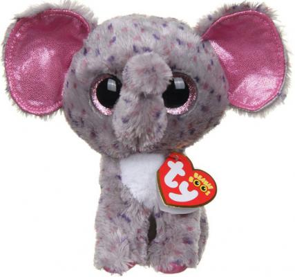 Мягкая игрушка слон TY Specks искусственный мех разноцветный 15 см