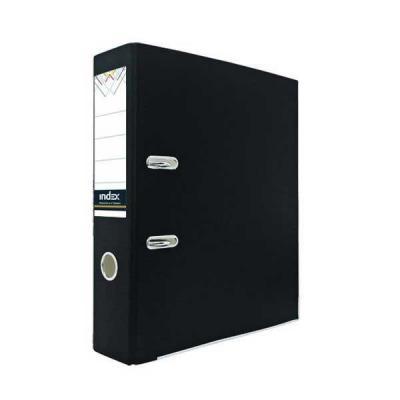 Папка-регистратор из цветного картона, 80 мм, А4, черная IND 8 ECO ЧЕР/24 папка регистратор с покрытием pvc 80 мм а4 черная ind 8 24 pvc чер