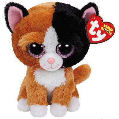 Мягкая игрушка котенок TY Котенок Tauri искусственный мех разноцветный 15 см 0008421371785