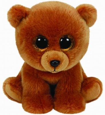 Мягкая игрушка медведь TY Мишка Brownie плюш коричневый 25 см 90222 игрушка мягкая ty inc beanie boo s белый тюлень icing 25 см 37046
