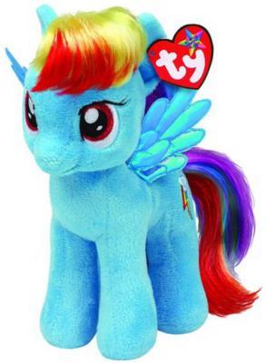 Мягкая игрушка пони TY Пони Rainbow Dash искусственный мех голубой 25 см