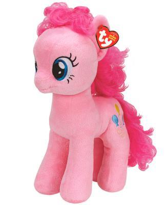 Мягкая игрушка пони TY Пони Pinkie Pie плюш синтепон розовый 20 см 0008421410002