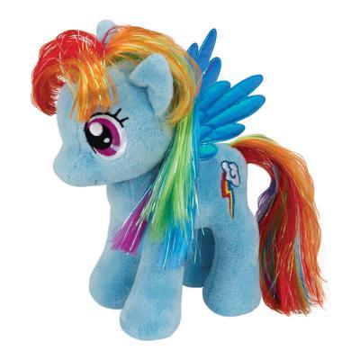 Мягкая игрушка пони TY Пони Rainbow Dash плюш синтепон голубой 20 см 0008421410057