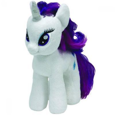 Мягкая игрушка пони TY Пони Rarity текстиль плюш искусственный мех белый 20 см 0008421410088