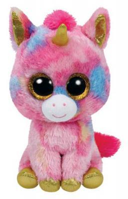 Мягкая игрушка единорог TY Единорог Fantasia плюш розовый 25 см 37041
