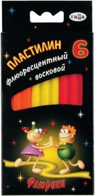 Пластилин ФЛЮРИКИ NEW со стеком, флюор., 6 цв., карт. уп., 76 г., с европодвесом